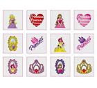 12 Princess Temporary Tattoos Boys Girls Kids Party Bag & Stocking Fillers Kids