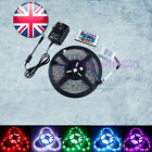New Batch 5M10M15M 20M 3528 SMD RGB 300LED Waterproof Strip Light Adapter Remote