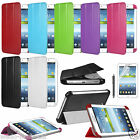 BOOK STYLE SLIM LEATHER CASE COVER FOR SAMSUNG GALAXY TAB 3 P3200 P3210 7.0""