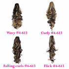 PONYTAIL Clip In Hair Extensions Dark Brown/Blonde #4/613 REVERSIBLE Claw Clip