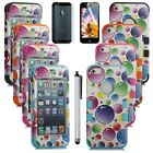 Bubble Hybrid Combo Rugged Rubber Matte Hard Case Cover For iPhone 5 5G & Stylus