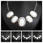White Shell Silver Plated Alloy Necklace XC702