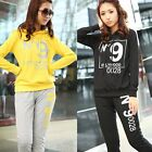 Womens Tracksuits Sweats Casual Girls Hoodies Suits Pants Tops Letters Printed