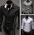 2013 Luxury Mens Stylish Slim Fit Long Sleeve Casual Dress Shirts 5 Size 3 Color