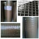 """GALVANISED WELDED WIRE MESH 1"""", 1"""",  36"""", 48"""" x 30m AVIARY HUTCHES FENCING FENCE"""