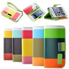 New Hybrid Leather Wallet Flip Stand Case Cover For Apple iPhone 5 5G 5S + Guard