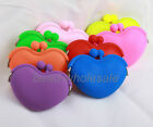 New Heart  Mini Lady/Girl/Women Silicone Round Coin Wallet Purse Rubber Bag
