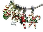 CHRISTMAS CANDY CANE CHARM FITS EUROPEAN BRACELETS -BUY 3 GET 1 FREE