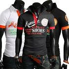 WT4913 NEW Mens Casual Slim Fit Polo Shirt T-shirts Tee Shirt  4SIZE 3COLOR
