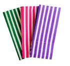 50 x CANDY STRIPE SWEET / PICK AND N MIX PAPER PARTY BAG - CAKE BUFFET BAGS