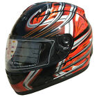 Motorcycle Helmet Full Face Sports Helmets DOT 169 Orange Red Black