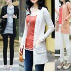 Fashion Women's Knitting Cardigan Sweater Long Sleeve Candy Color Solid Tops