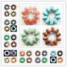10pcs Mixed Gemstone Pendant Bead Mayan-126