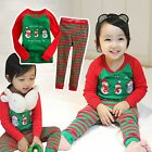 "2pcs Vaenait Baby Kids Boy Girl Christmas Clothes Sleepwear Pajama Set""Snow Man"""