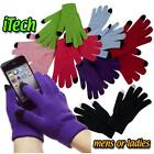 UNISEX KIDS LADIES MENS IPHONE IPAD SMART TOUCH SCREEN WINTER MAGIC GLOVES BLACK