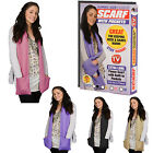 Fleece Scarf Hand Warmers Jumbo Winter Warm Neck With Pockets Black Pink Beige