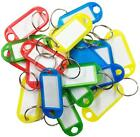 Key Tags ID Labels Key Rings Assorted Colours Key Rings Plastic Name ID Cards