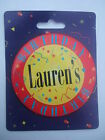 Personalised Birthday Button Badge - Jumbo 75mm - Names L to N