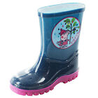 Girls Size 4 - 10 Navy Blue Pink PEPPA PIG Wellies Shoes Wellington Boots Welly