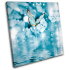 Blue Butterfly Tranquil Animals SINGLE CANVAS WALL ART Picture Print VA
