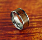 8mm Tungsten Carbide Koa Wood Inlaid Ring Wedding band Engagement Ring Size 6-13