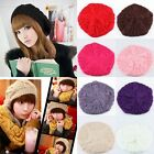 Women's Winter Knit Crochet Beanie Skull Ski Hat Beret Cap Tam Pink Red Black...