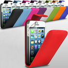 Various Mobile Phone PU Leather Flip Skin Case Cover with LCD Screen Protector