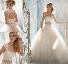 2014 New Luxury Sweetheart Appliqued Tulle Bridal Gown Ball Gown Wedding Dresses