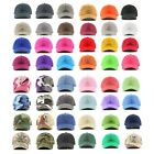 Polo Style Washed 100% Cotton Plain Baseball Hat Cap Hats Caps