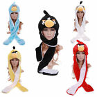 Kids Angry Birds Hat Scarf Gloves Mittens Snood Winter Boys Girls Fleece Mitts