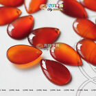 2 pcs Teardrop Shape Natural Red Brazil Agate Gemstone Beads Three Size T374