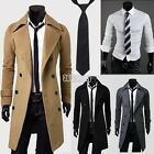 Sexy Mens Winter Trench Coat Slim Shirt Long Jacket Double Breasted Overcoat New