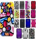 For Alcatel One Touch Fierce Multi Designs And Perforated Hard Soft Cover Cases