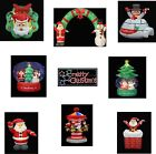 Christmas Inflatable Santa Snowman Arch Snow Globe Wreath Chimney Igloo Lights