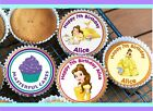 24 PERSONALISED BELLE EDIBLE RICE PAPER CUP CAKE TOPPERS