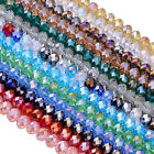 AB Crystal Glass Faceted Rondelle Loose Beads For Jewelry Making Findings DIY