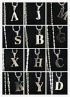 Fashion Stainless Steel Chain English 26 Letters Pendant Necklace Colorfast A~Z