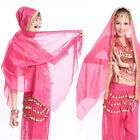 Belly Dance Dancing Costume Chiffon Shawl Veil Scarf Scarves 12 colors