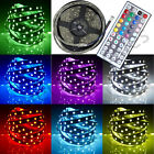 5050 5M RGB SMD LED Strip Light+Power Supply Adapter+44Key IR Remote Controller