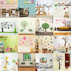 Wall Sticker Wallpaper Decals Home Art Mural Tree Flower Birds Jungle Animal DIY