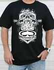 SRH Productions Out Gunned Mens Skull Graphic Tee We Run The Underground T-Shirt