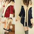 Womens Winter Button Stylish Vogue Thicken Jacket Outerwear Lady Hairy Warm Coat