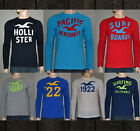 Hollister By Abercrombie Mens Long  Sleeve T  Shirt Graphic Tee Top