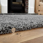LARGE MEDIUM SMALL 5CM THICK PLAIN COLOUR SOFT LUXURIOUS NON-SHEDDING SHAGGY RUG