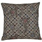 ESA003 Black Red Blue Flower Cotton Blend Fabric Cushion Cover/Pillow Case