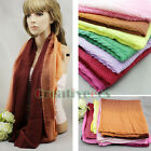 Fahsion Womens Wool Knit Warm Infinity Loop Cowl Eternity Pleated Cashmere Scarf