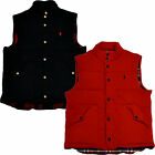 Polo Ralph Lauren Vest Flannel Lined Mens Jacket Polyester Logo Nwt Mens W73++++
