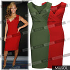 New Ladies Sexy V-Neck Wedding Cocktail Party Evening Bodycon Dresses Size810246