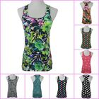Cotton Women's Lady Printed Sleeveless T-shirt Slim Casual Tank top Vest Singlet