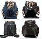 NEW FAUX LEATHER BLACK OR BLUE TASSEL & BUTTON SHOULDER BAG HANDBAG RUCKSACK